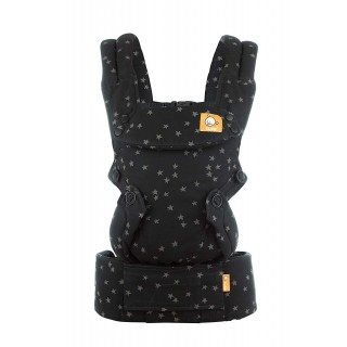 Baby Tula Explore Baby Carrier 7  45 lb, Adjustable Newborn to Toddler Carrier, Multiple Ergonomic Positions, Front and Back Carry, Easy-to-Use, Lightweight  Discover, Black with Gray Stars