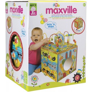 Alex Jr. Maxville Wooden Baby Toddler Activity Cube