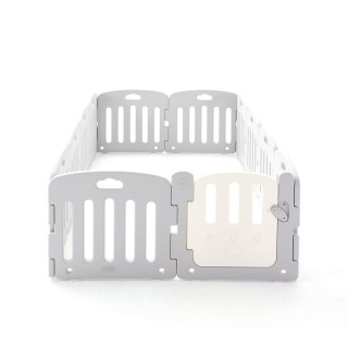 ALZIP MAT Baby Room, Baby Safety Playpen Play Yard for Baby, Toddler, Kids (SG(12P), Plain Gray)