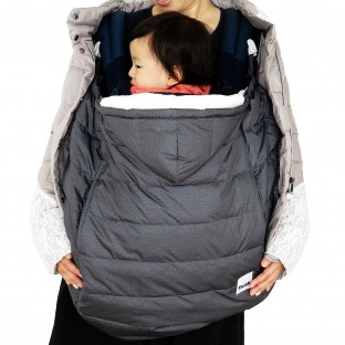 RoSK-Down Pouch 3way-Stroller,Carrier Cover and Car Seat Footmuff, Best for Freezing Winter Conditions (Smoky Black)