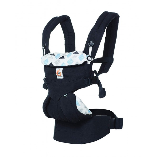ERGObaby Baby Carrier for Newborn to Toddler, 4-Position Omni 360 Triple Triangles, Ergonomic Child Carrier Backpack