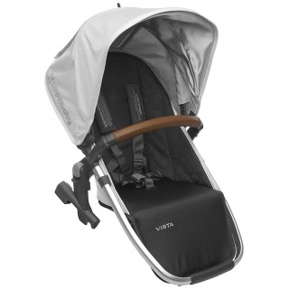 2018 UPPAbaby Vista RumbleSeat - Loic (White/Silver/Saddle Leather)