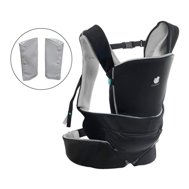 Cococho Baby Carrier - for Front and Early Back Use - Ergonomic, Adapts to The Baby's Development from Newborn to Toddler. Unique, Safe and Easiest Wearing Method Designed for Intensive Use.